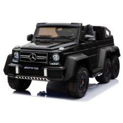 Электромобиль Mercedes-Benz G63-AMG 4WD A006AA черный (шестиколесный, привод на 4 колеса, музыка, пульт управления, 2 педали упраления)